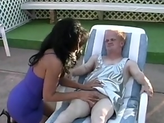 A Latin Milf has big fuck with a little guy!!